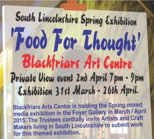 Spring Mixed Media Exhibition - 'Food For Thought' - Submissions Required!