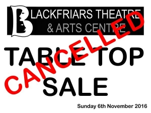 Table Top Sale - 6th Nov - CANCELLED