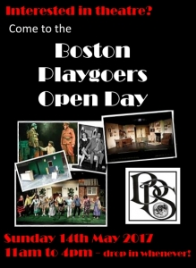 Boston Playgoers Open Day - Sunday 14th May