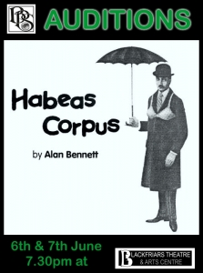 AUDITIONS - Boston Playgoers Society - Habeas Corpus