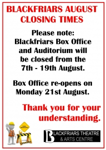 CLOSED FOR MAINTENANCE - 7th - 19th Aug 2017
