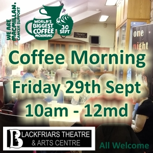 Macmillian Coffee Morning - Fri 29th Sept 2017