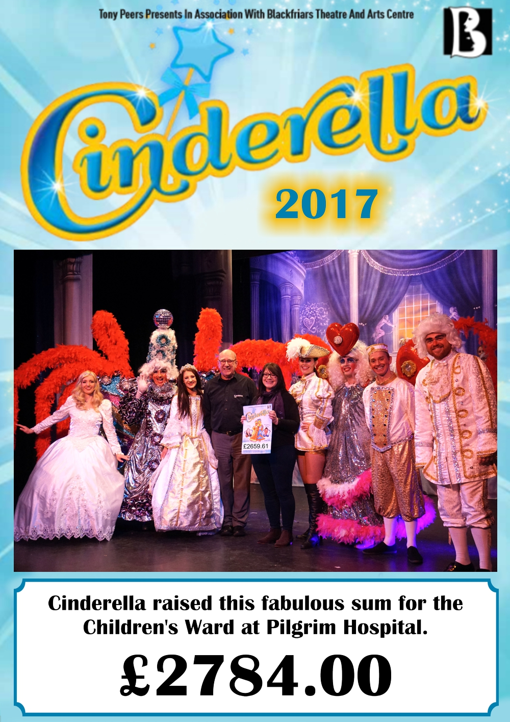Cinderella raises thousands for Children's Ward for the 4th year running.