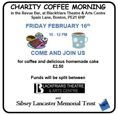Charity Coffee Morning - Friday 16th February