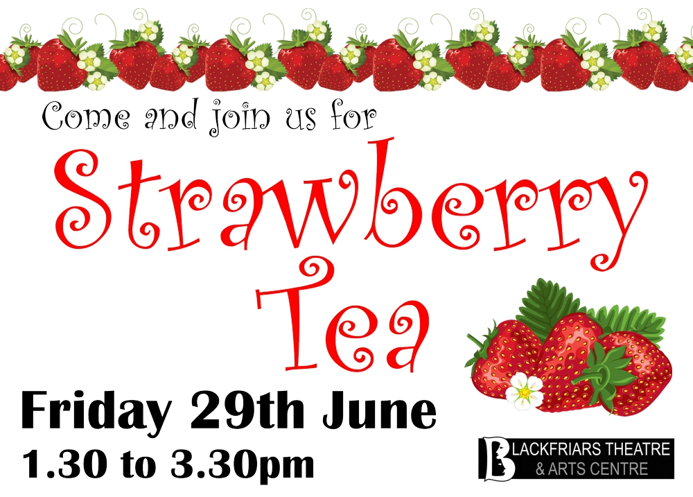 Join us for Strawberry Tea - 29th June
