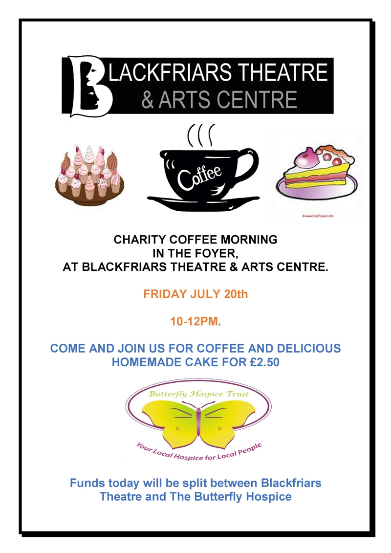Coffee Morning 20th July in association with The Butterfly Hospice