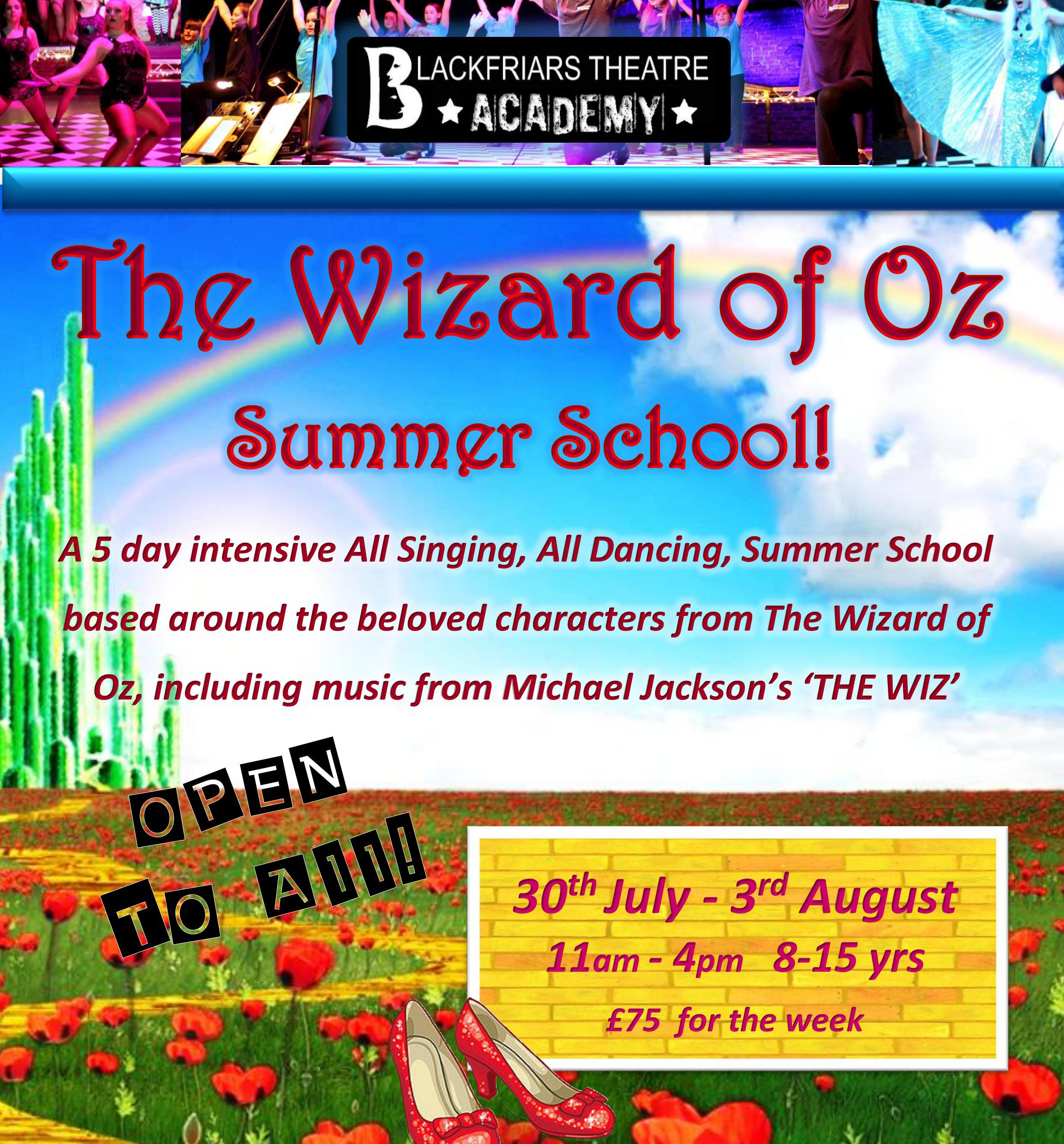 Blackfriars Theatre Academy - Summer School - FINAL PLACES LEFT