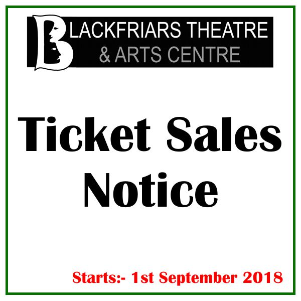 Blackfriars Booking Fee Notice