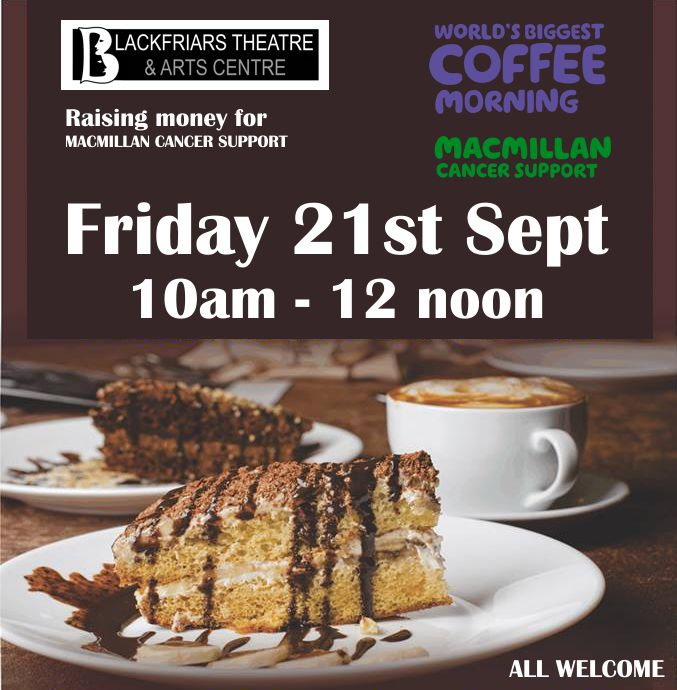 MacMillan Big Coffee Morning - Friday 21st September
