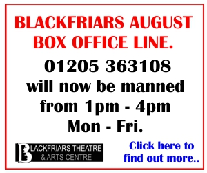 Box Office - Telephone Bookings - OPEN 1pm - 4pm