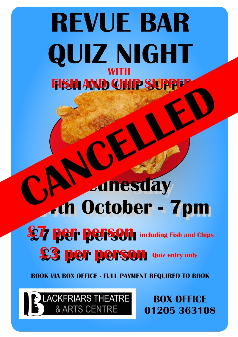 Fish and Chip Supper Quiz Night - CANCELLED
