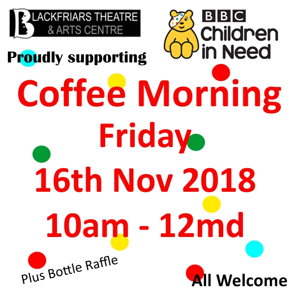 Children in Need Coffee Morning - Fri 16th Nov 2018