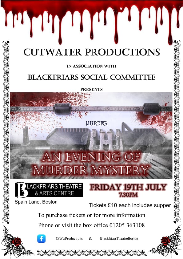 An Evening of Murder and Mystery - Friday 19th July