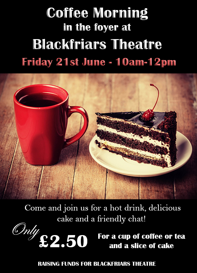 Coffee Morning - Friday 21st June 2019