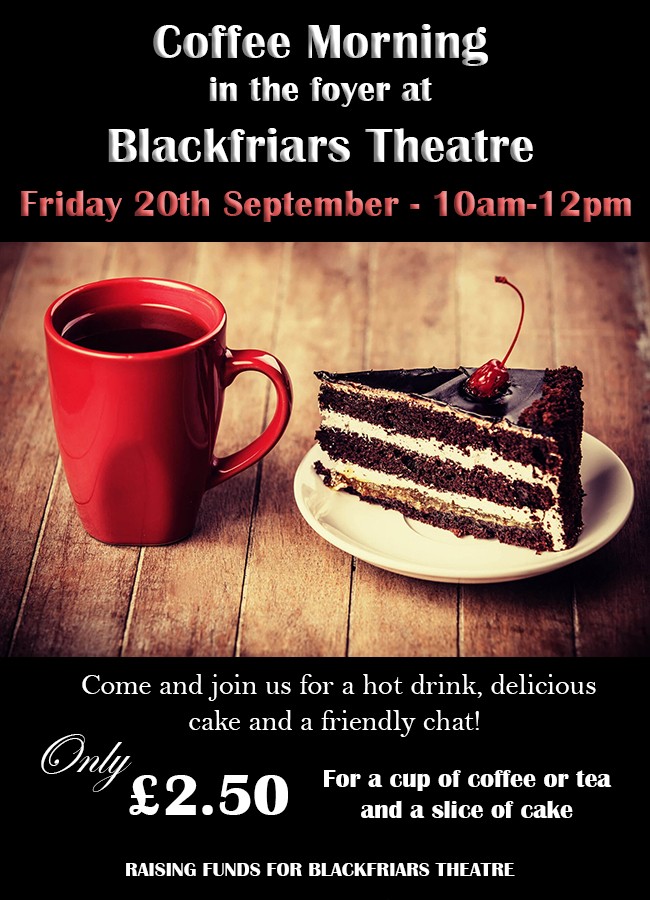 Coffee Morning - Friday 20th September 2019