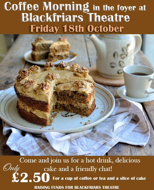 Coffee Morning - Friday 18th October 2019
