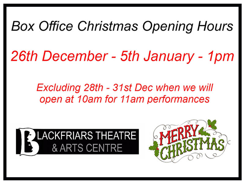 Box Office Christmas Opening Hours
