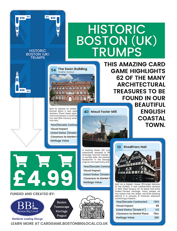 Historic Boston (UK) Trump Cards - Onsale now