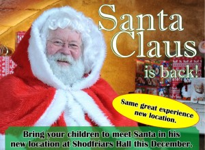 Santa Claus is coming to Shodfriars Hall