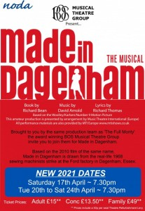Made in Dagenham - RESCHEDULED