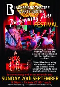 Blackfriars Performing Arts Festival - September 2020