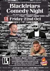 Blackfriars Comedy Night - Oct 2021